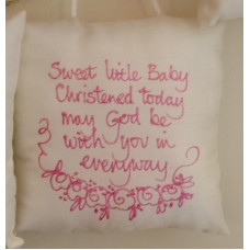 Hanging Square Pillows: Christening