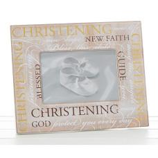Pale Wooden Christening Frame