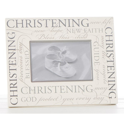 Christening Picture Frame