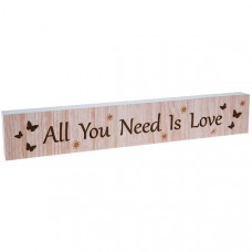All You Need Is Love Long Plaque