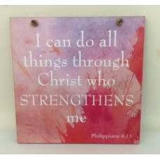 Colourful Plaque - I Can Do All Things