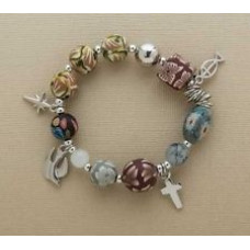 Christ's Story Clay Bead Stretch Bracelet