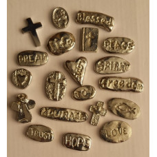 Pewter Tokens with Words
