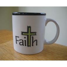 Chunky Faith Mug with Cross