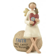 Faith Will Carry You Through Angel Ornament