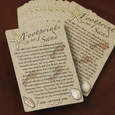 Footprints Pocket Prayer Card