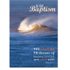 Baptism Wave Card