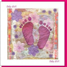 New Baby Card Pink Feet