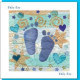 New Baby Card - Blue Feet