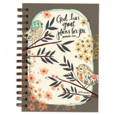 God Has Great Plans For You Wirebound Journal