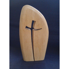 Simple Curved Wooden Cross Diddy Size