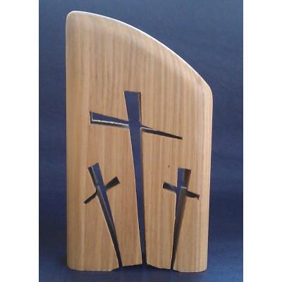 Three Cross Hill Oak Ornamental Piece