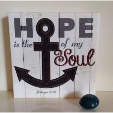 Hope is the Anchor Square Canvas Plaque