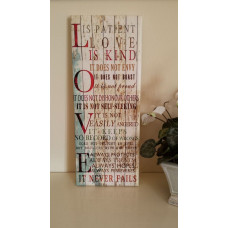 Love is Patient Canvas Plaque