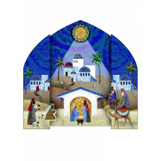 Christmas Cards 10 Pack - Mosaic Nativity