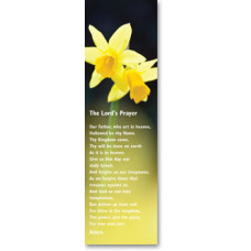 Bible Bookmark The Lord's Prayer Daffodils