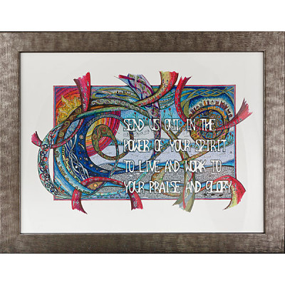 Lindisfarne - Send Us Out A4 Print Framed