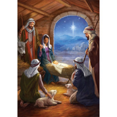 Christmas Cards 10 Pack - Stable Scene