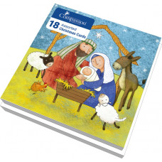 Christmas Cards Nativity - Assorted Pack Of 18 Cards