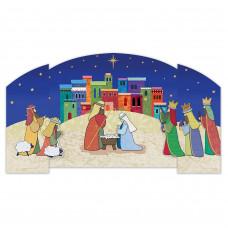 Christmas Cards 10 Pack - Bethlehem Tri Fold