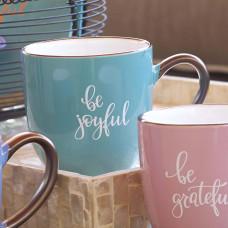 Be Joyful Ceramic Mug in Teal