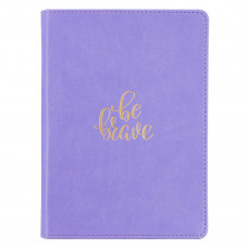 Be Brave Handy-sized Faux Leather Journal in Lavender