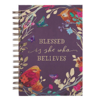 Blessed Is She Large Wirebound Journal
