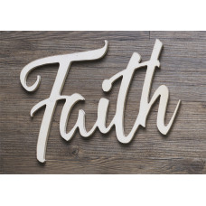 Faith Laser Cut Script Wall Art