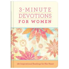 3-Minute Devotions for Women - Hardback