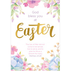 Charity Easter Cards - God Bless You (pack of 5)