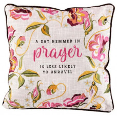 A Day Hemmed In Prayer Cushion