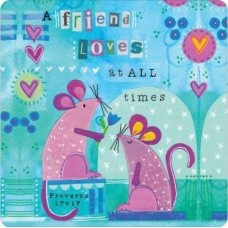 A Friend Loves At All Times Mice Coaster
