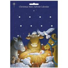 Advent Calendar Animals At The Manger