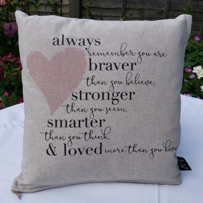 Cushion - Always Remember You Are Loved Pink Heart