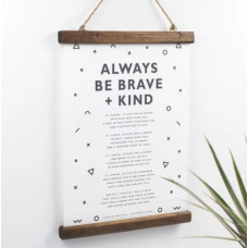 Always Be Brave And Kind Christening and Nursery Print