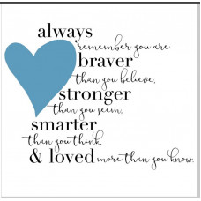 Always Remember Blue Heart Greetings Card