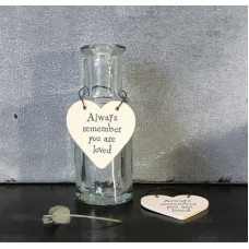 Always Remember You Are Loved Mini Wooden Heart