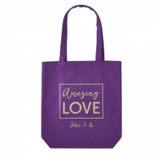 Amazing Love Purple Tote Bag