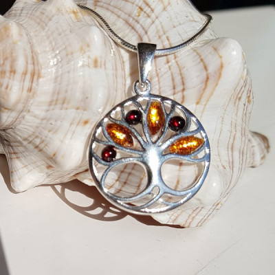 Amber Tree Of Life Necklace
