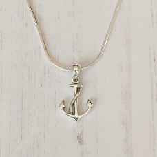Large Anchor And Rope Pendant