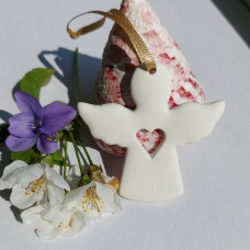 Ceramic Angel With Open Heart