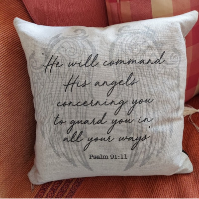 Angel Wings Guard You Cushion