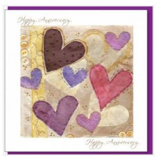Happy Anniversary Card With Hearts