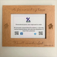 Wooden Engraved As For Me And My House Frame