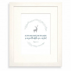 As The Deer Pants For The Water Calm Range Framed Print