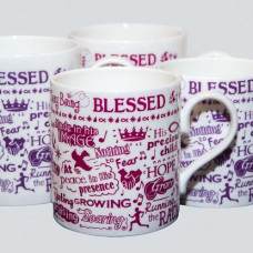 Busy Being Blessed Mug 250ml Purple