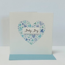 Baby Boy Heart Greetings Card