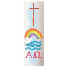 Baptism Candle Rainbow