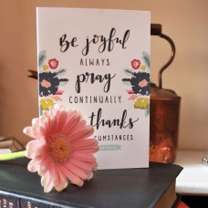 Be Joyful Always Greetings Card