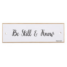 Be Still And Know Ceramic Wall Plaque